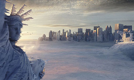 Frozen Statue of Liberty from The Day After Tomorrow, a doom-mongering movie