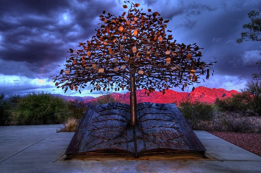 Knowledge is with me - Sculpture in Oro Valley Library, Tucson, Arizona