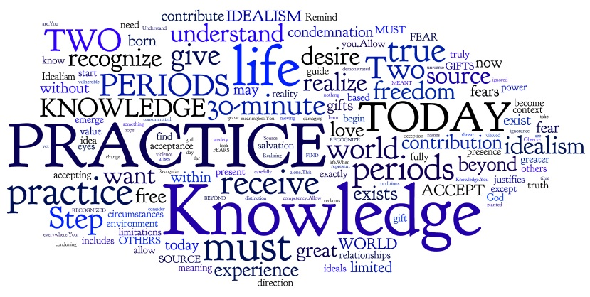 Steps To Knowledge Steps 50-55 Word Cloud - I will accept my studenthood as it is