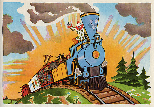 I will keep my hands to the plow today, I'll keep trying and believing, like the Little Engine That Could