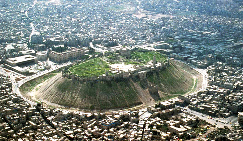 Citadel Hill in Aleppo, Syria. In July of 2009, Marshall Vian Summers had an appointment in Aleppo