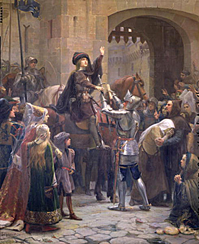 "Joan of Arc Leaving Vaucouleurs by Jean-Jacques Scherrer ""It was for this that I was born!"""