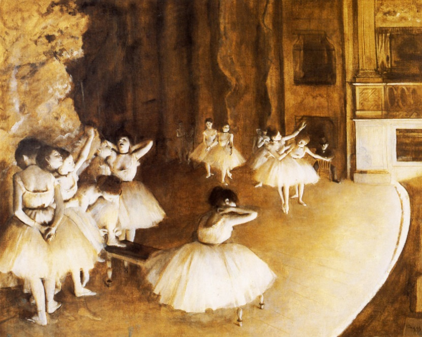 Degas painted these ballerinas practicing. What are you practicing?