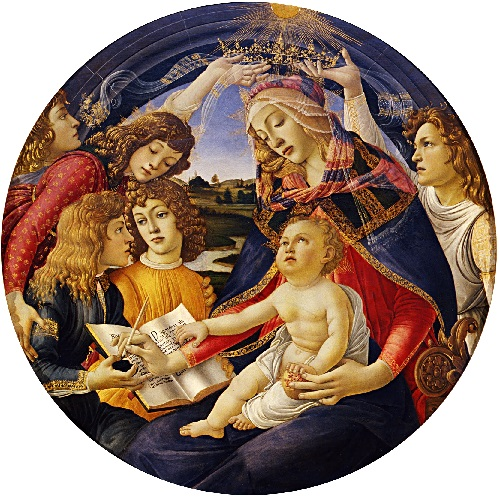 Madonna of the Magnificat by Sandro Botticelli. My inner life imitates, drinking in silence