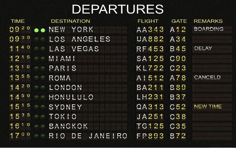 Departures. How will we leave this lovely, dangerous place