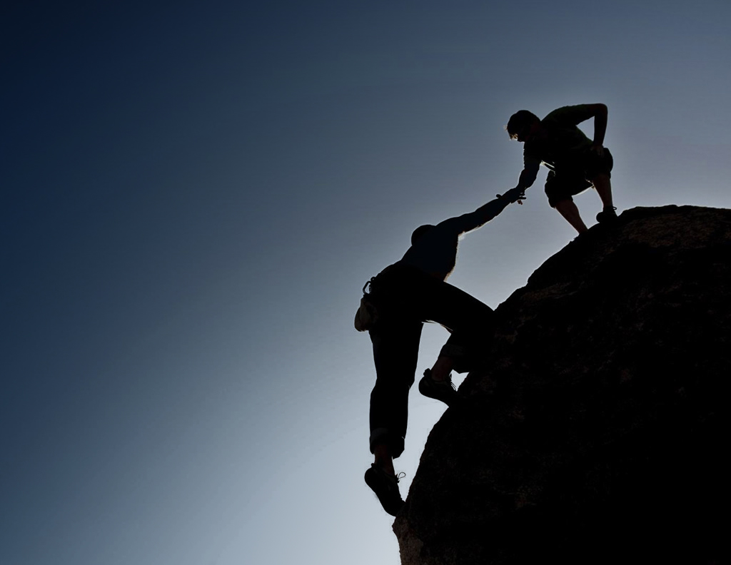 leadership-mountain-climbing I try to help people up the mountain