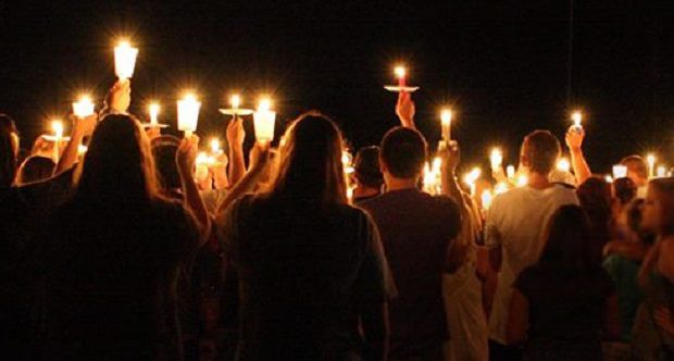 holding vigil