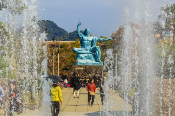 Nagasaki Peace Park. How many times must the warheads be dropped