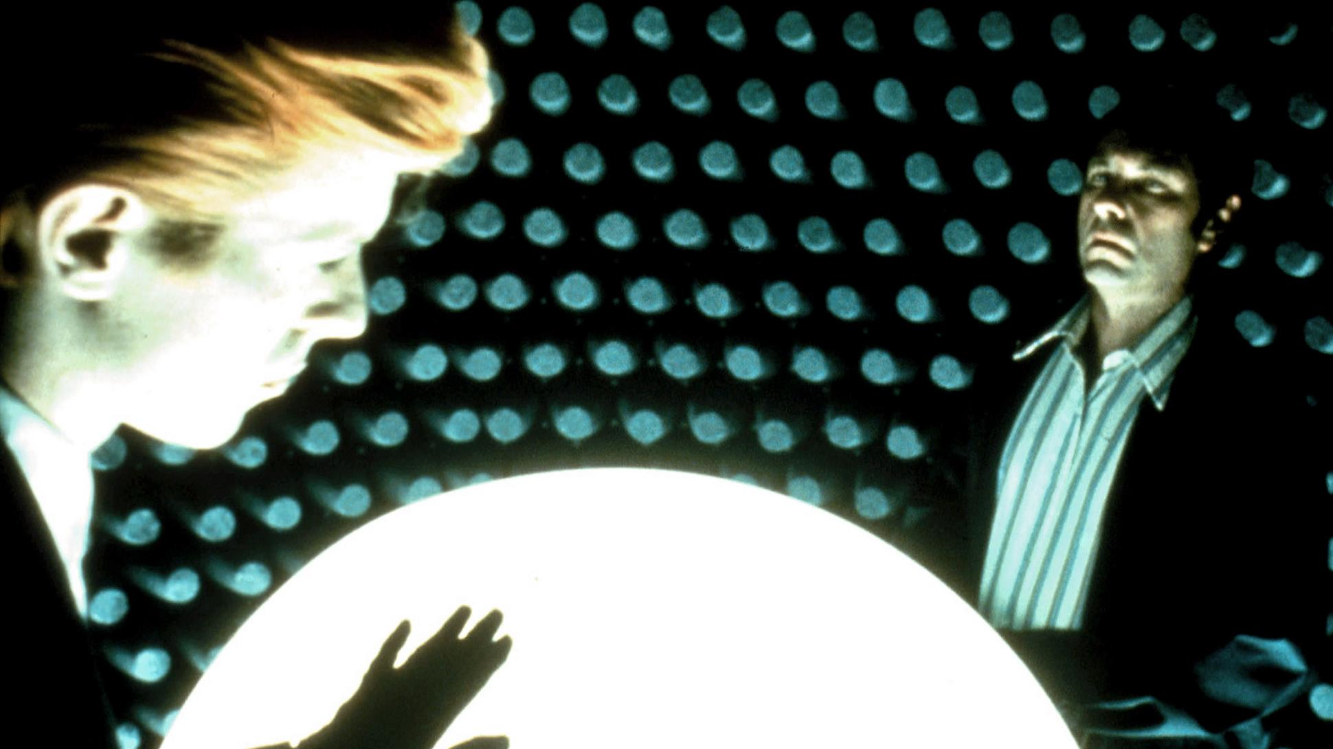 "Scene from ""The Man Who Fell To Earth"" We face a challenge to our freedom."