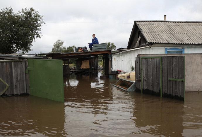 Flooding in the  Khabarovsk Region, Russian Far East