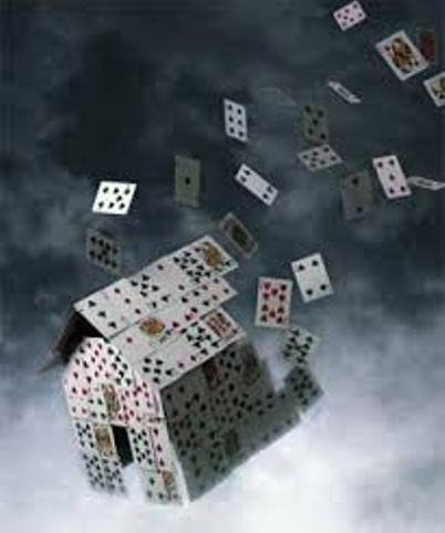 Don't add to the house of cards. Don't believe everything you think