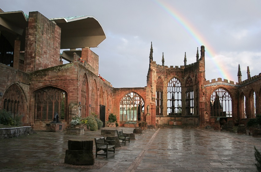 """At Coventry Cathedral, the words """"Father Forgive"""" ring out in a voice louder than bombs"""