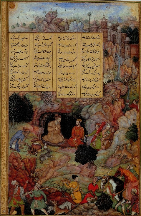 Basawan_-_Alexander_Visits_the_Sage_Plato A story by Amir Khorso, who wrote a tale of generous King Hatim Tai