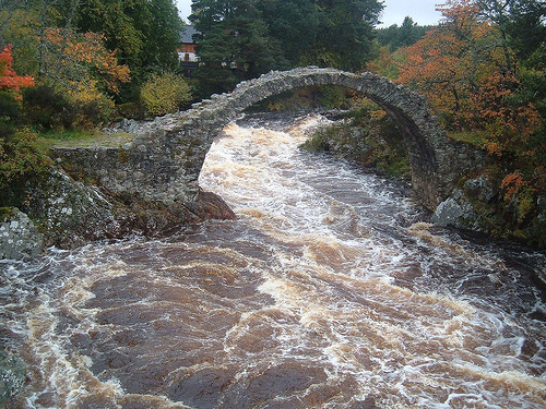 This bridge is over the river Dulnain in Scotland. I am building the bridge to my future.