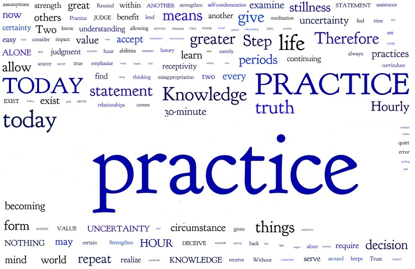 Steps To Knowledge Steps 78-83 Word Cloud with words separated. Some small but substantial successes