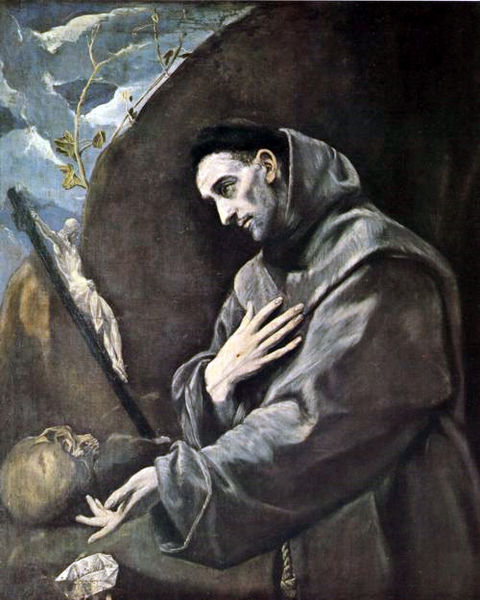 St. Francis of Assisi, painted by El Greco. Whether a ruby or a pebble