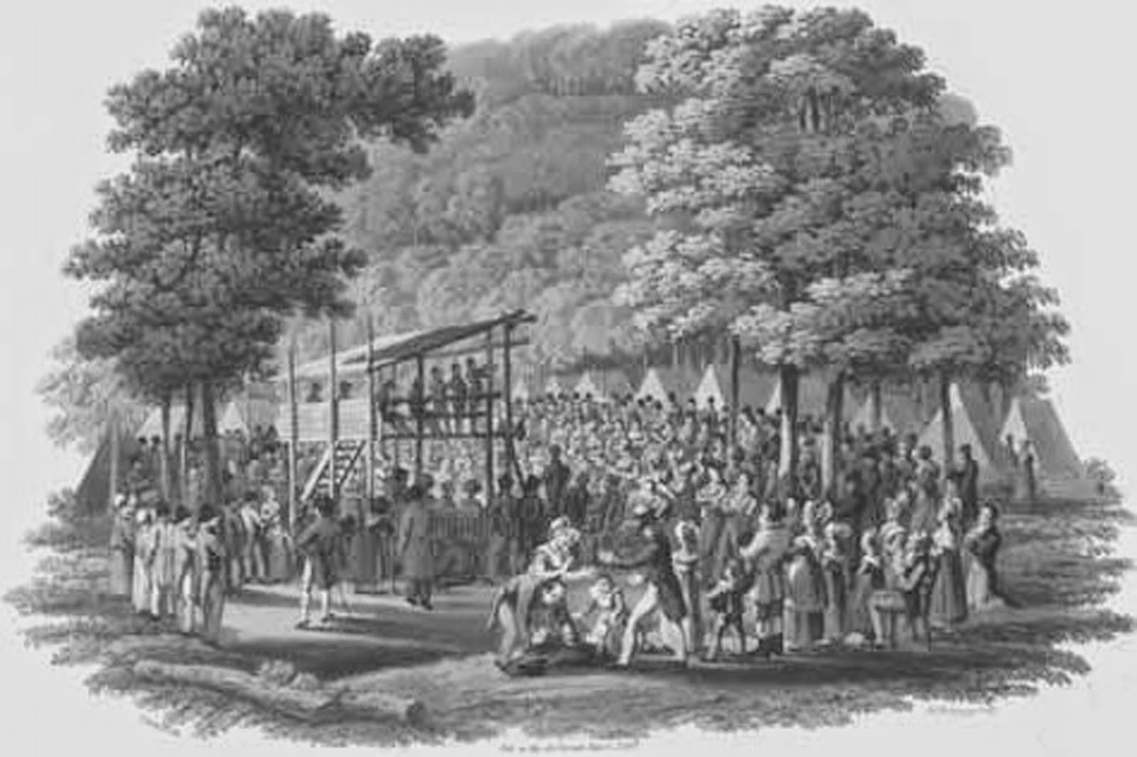 Methodist camp meeting 1819. The season of Encampment