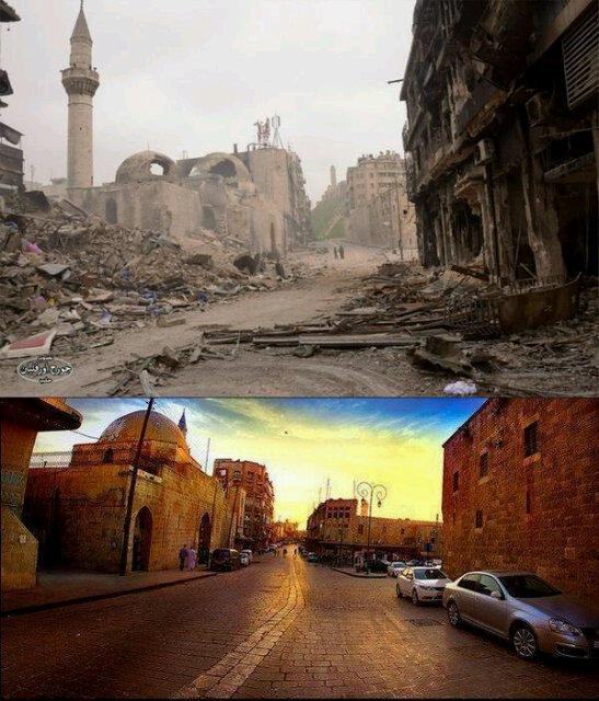 Souq Khan Al-Wazeer, Aleppo, Before and After Do you see Aleppo?
