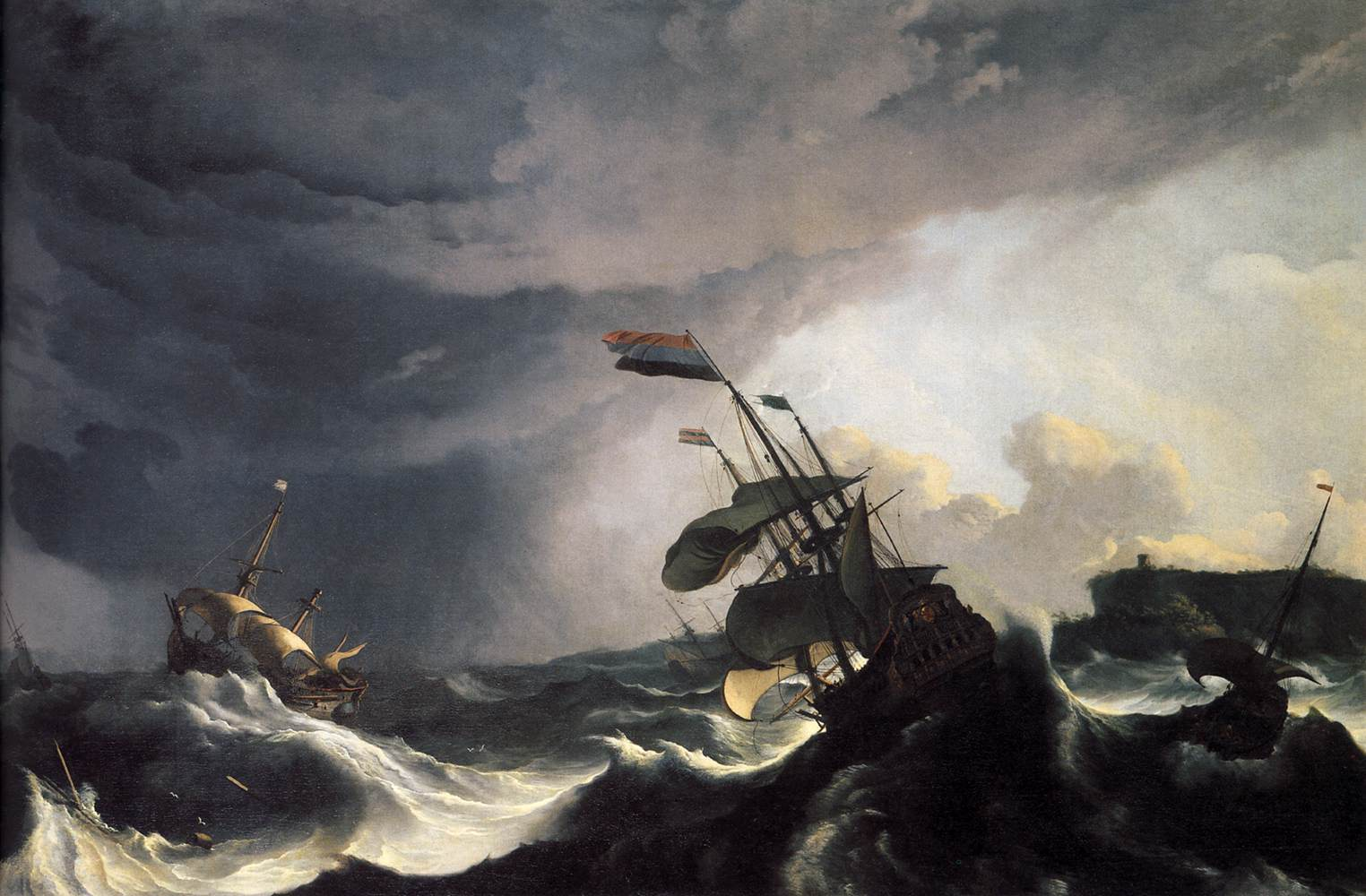 Ships_in_Distress_in_a_Raging_Storm_c1690_Ludolf_Backhuysen How will I navigate difficult times?