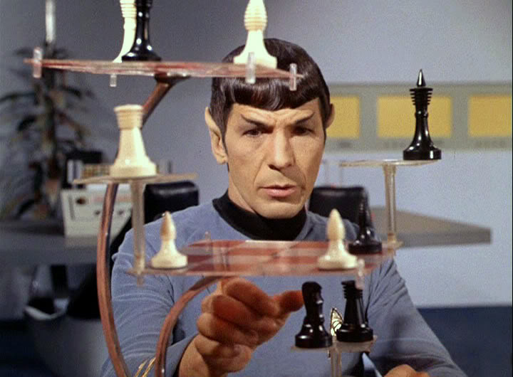Spock-playing-3d-chess They called him a legend on his home world