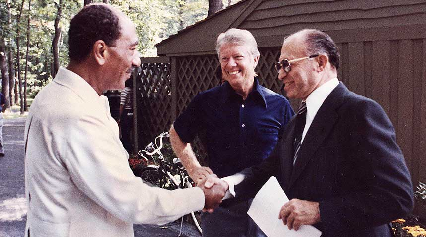Camp_David,_Menachem_Begin,_Anwar_Sadat,_1978 I wish to recall peace much more than war