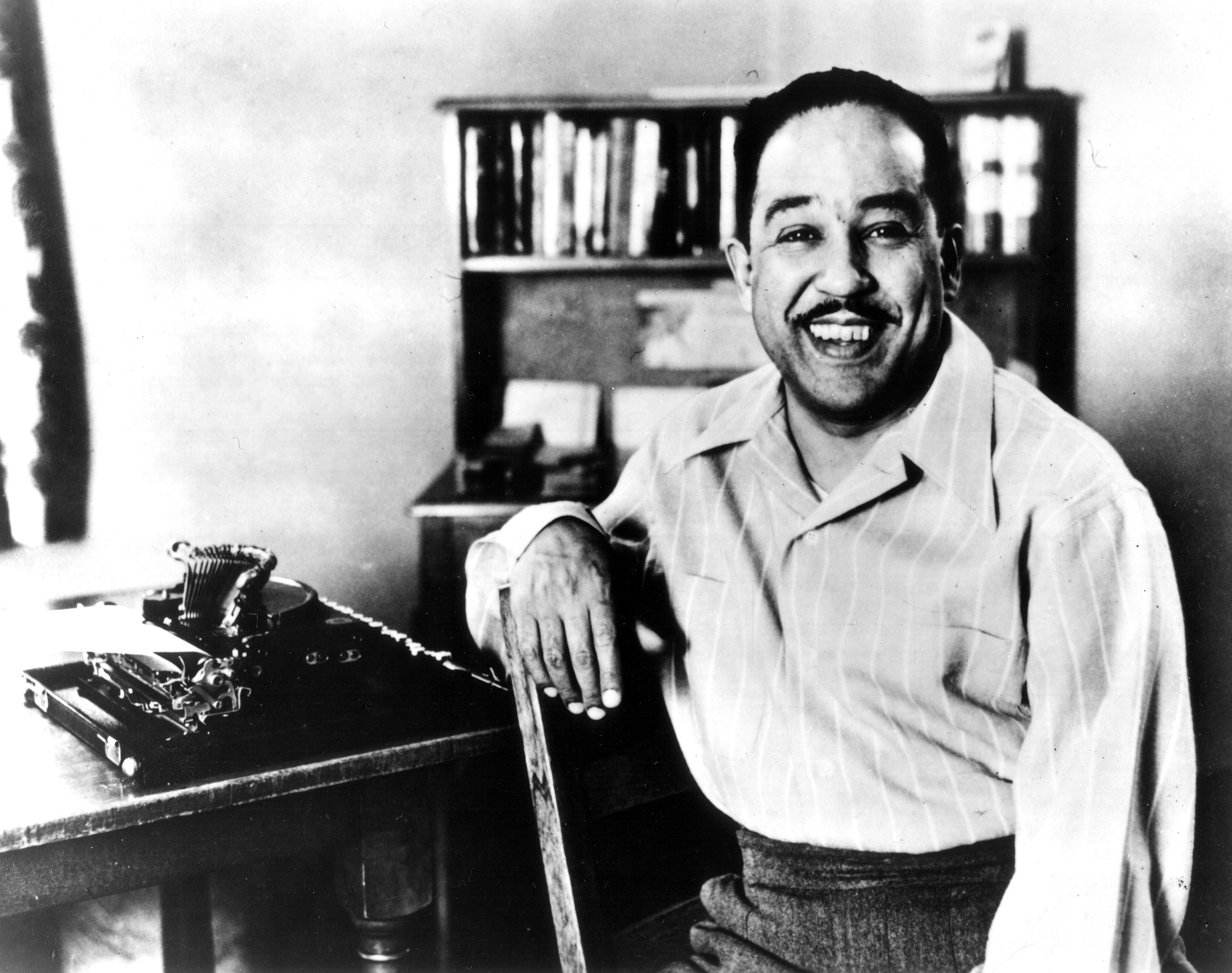 langston-hughes-typewriter And yet I swear this oath, America will be