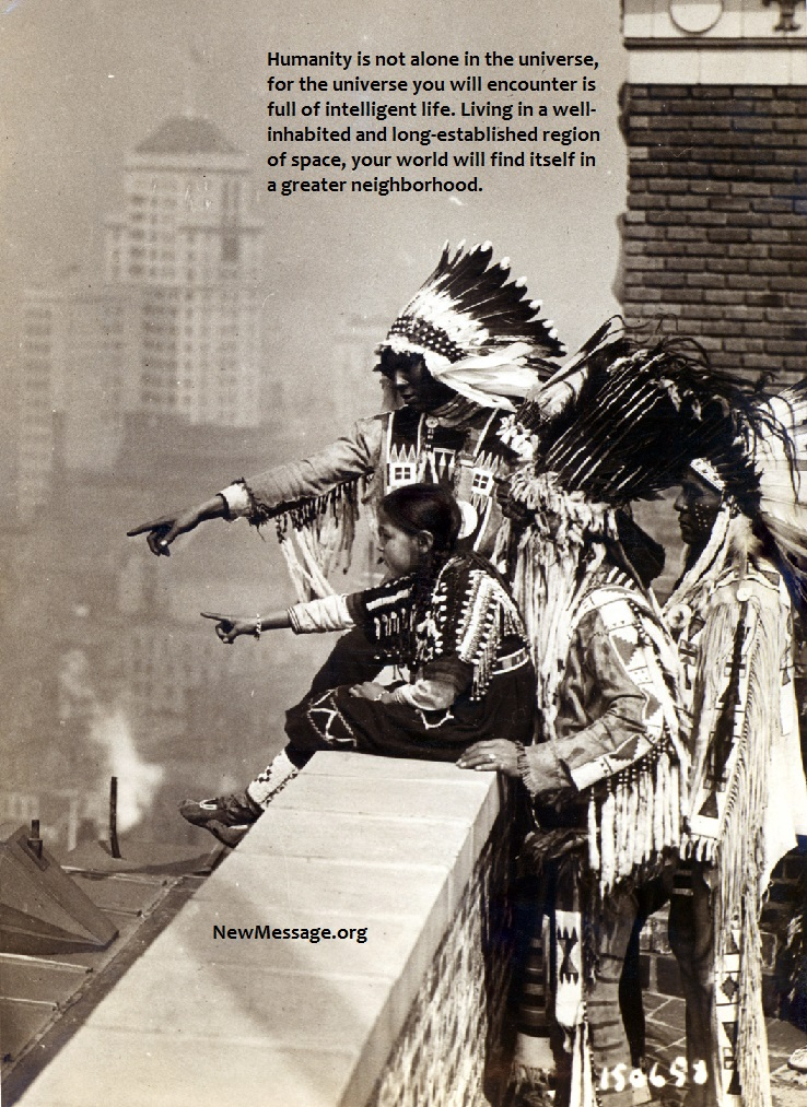Blackfeet in New York, 1913. We might be an utterly average world.
