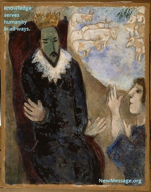 Marc Chagall paints Joseph and Pharaoh. What happened? A man of Knowledge happened!