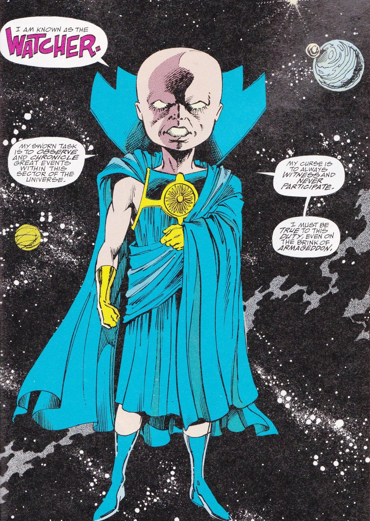First appearance of Uatu the Watcher. We face a challenge to our freedom