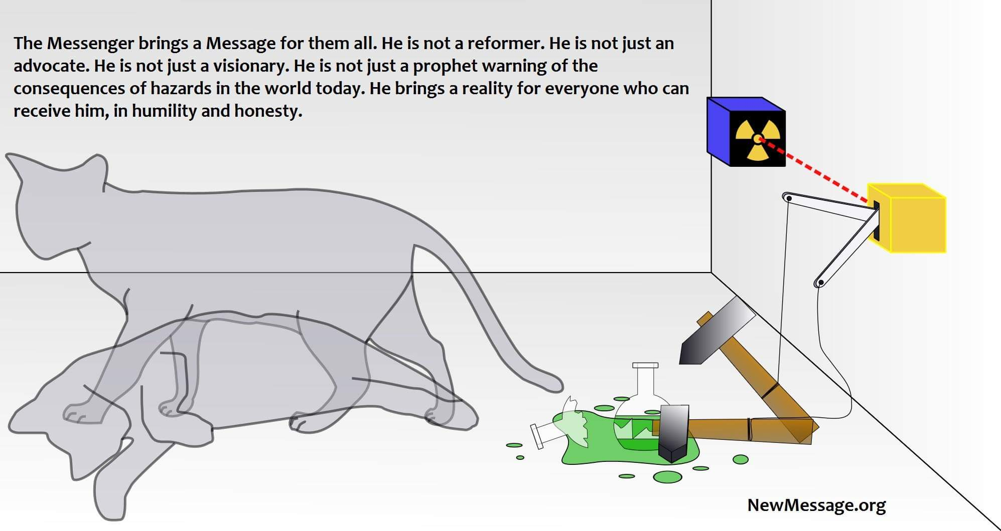 Schrodinger's cat and the Messenger. A new reality doesn't happen every day
