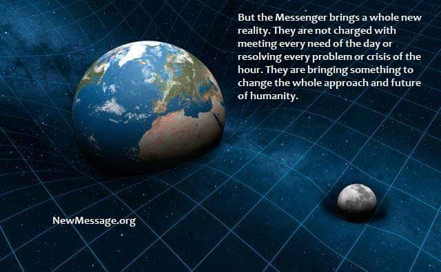 Gravity bending space-time and the Messenger. A new reality doesn't happen every day