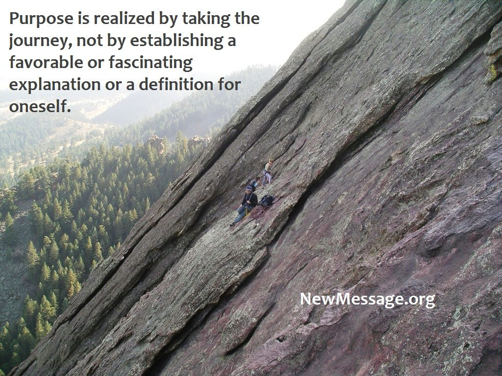 Flatiron Mountains, Boulder, Colorado. A new voice which you slowly recognized as your own